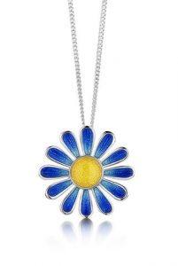 Coloured Daisy Pendant